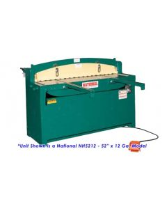 National 52 In. x 12 Ga. Hydraulic Shear - NH5212 - Front Left View