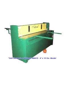National 10 Ft. x 14 Ga. Mechanical Shear - NM1014 - Front Left View