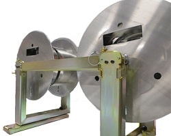 KWM Gutter Machine Spools with Turnstile Uprights and Transfer Bars