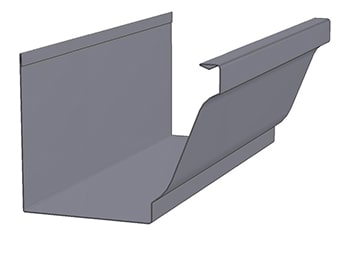KWM K-Style with Alcoa Hook Gutter Profile