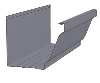 KWM K-Style with Leaf Rib Gutter Profile